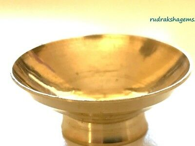 Diya Diva Dhoop Deeya Brass Lamp Deepak Mini Stand Puja Article Aarti Prayer Aum