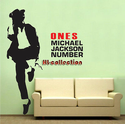 Michael Jackson II Rock Removable Wall Art Decal Vinyl Sticker Mural Decor HL25