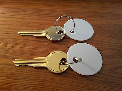 2 KEYS for ACROPRINT TIMECLOCK KEY ALL 125 150 & 200 TIME CLOCKS PK 626 PK626