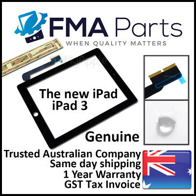iPad 3 OEM Black Touch Screen Glass Digitizer Front Replacement The New LTE Wifi