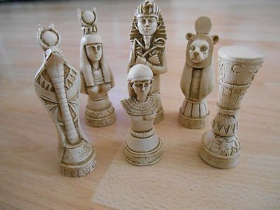 Egyptian Resin Chess Set
