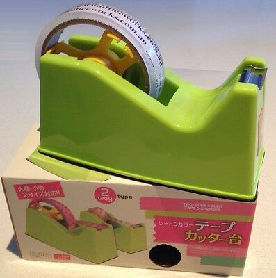 Daiso Two Way Packing Sticky Tape Dispenser Holder Desktop 76mm Large 26mm Small