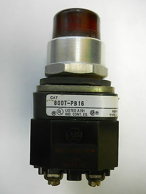 Allen-Bradley 800T-Pb16 Ser. T Red Lens Pushbutton