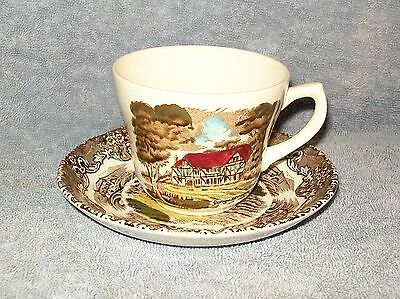 Grindley English Country Inns Brown Multicolor Cup & Saucer Set s