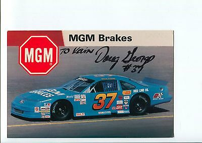 Doug George NASCAR Sprint Cup Truck Driver Racing Signed Autograph Photo