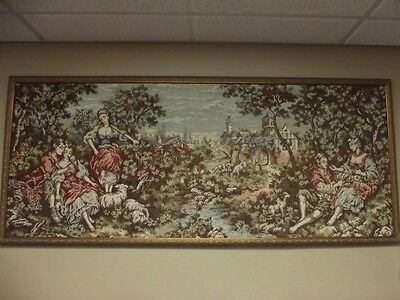 custom framed antique tapestry
