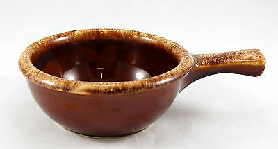 Hull China BROWN DRIP Individual Casserole No Lid 5.5 in. Tan Rim Oven Proof USA