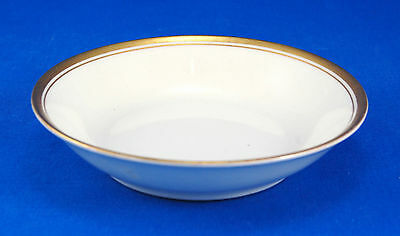 Syracuse China / O. P. Co. OLD COLONY Fruit / Dessert Bowl 5 in. Gold Bands Trim