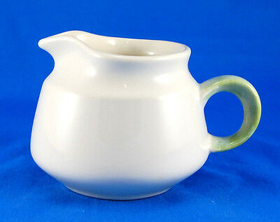 Franciscan FLORAL 49-71 Creamer 3.25 in. USA All White Green Handle Earthenware
