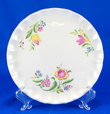 W. S. George Bolero GEO64 Bread and Butter Plate 6.5 in. Scalloped Yellow Pink