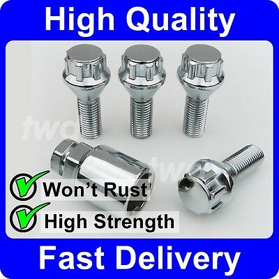 ALLOY WHEEL LOCKING BOLTS FOR BMW 5-SERIES (1972-2010) M12x1.5 LUG NUTS [H0b]