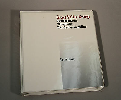 Grass Valley Group 8500/8800 Series Video/Pulse Distribution Amp. User's Guide