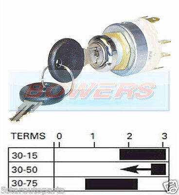12V Universal Car Motorbike Ignition Switch With 2 Keys Lucas Spb501 Equivalent