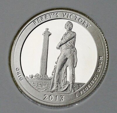 2013 S Perry's Victory & Peace Memorial, Ohio, SILVER Proof Quarter SHIPS FREE