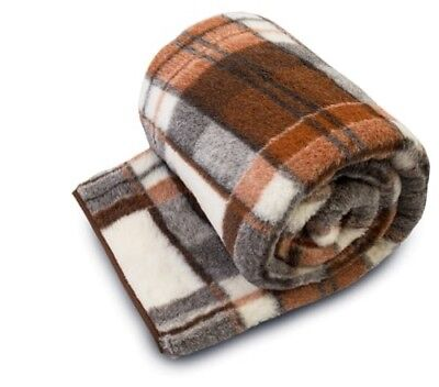 Merino Pure Wool Blanket / Throw 100% Natural, All Sizes  Woolmark Perfect Gift