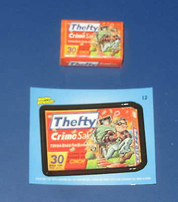 WACKY PACKAGES ERASER SERIES 2 THEFTY #12 WITH MATCHING STICKER