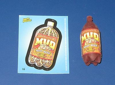 WACKY PACKAGES ERASER SERIES 2 MUD #16 WITH MATCHING STICKER