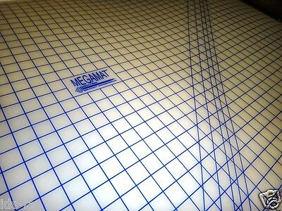 """Sewfit Megamat Translucent Cutting Mat 40 """" X 36 """" Pinnable Rotary Gridded"""
