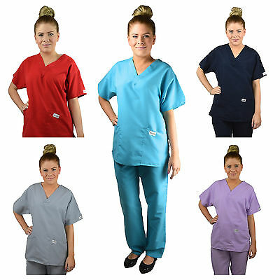 ScrubShine Medical V Neck Microfibre Scrubs Set Nurse- BN Choose Size & Colour