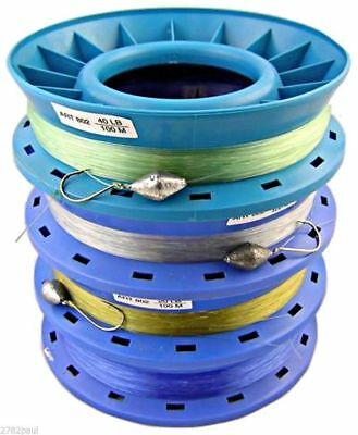 Pre Rigged 8 Inch Ring Caster Hand Lines-Bulk 4 Pack