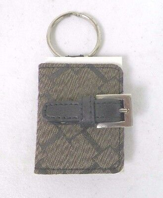 "Longaberger Key Ring With Two Photo Slots 2"" Brown"
