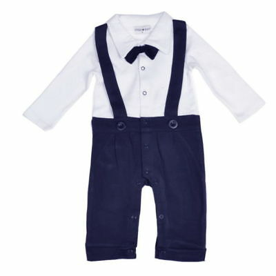 Baby boys party outfit 9-32 months LONG GENTLEMAN romper suit christmas gift