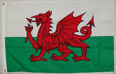 Welsh Flag 2' X 3' 3' X 5' Wales Red Dragon Rugby Football Wru Flag Pole Rings