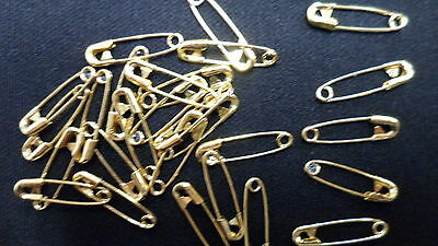 1000 Standard Safety Pins Gold 20mm Bulk Buy