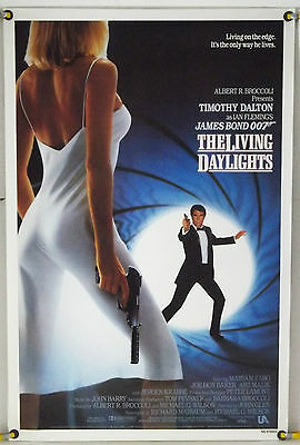 The Living Daylights Rolled Orig 1Sh Movie Poster Timothy Dalton Bond 007 (1987)