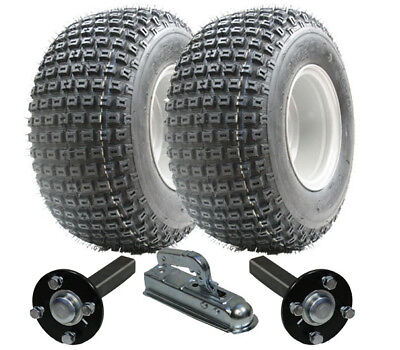 ATV trailer kit - Quad trailer - wheels + hub / stub + hitch  200kg