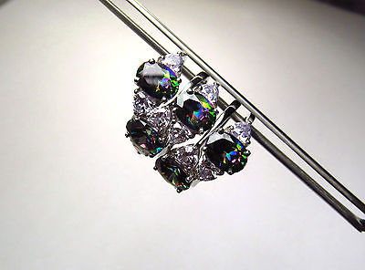 Wholesale 10 Pcs Beautiful Rainbow Cz Accented Ring In Sterling Silver Lot