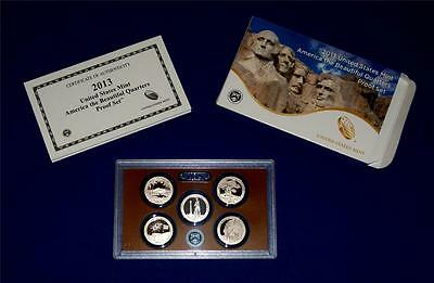 2013 S Clad Proof Quarter Set with Box/COA -FIVE COINS- IN STOCK