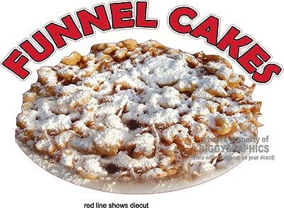 """12"""" x 16""""  FUNNEL CAKES  VINYL DECAL FULL COLOR GRAPHIC NEW!"""