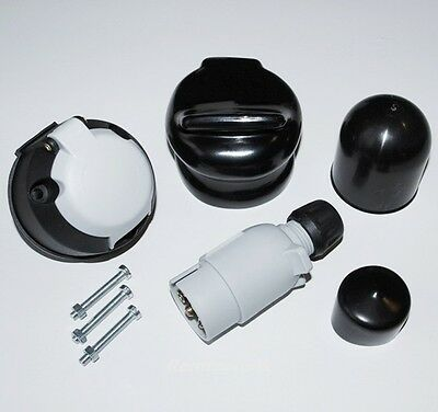 7 Pin 12S Type Towing Electrics Plug & Socket Kit  For Caravan / Trailer