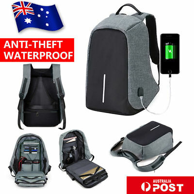 AU Anti-Theft Backpack Water Repellent Design Travel School Bags With USB Port