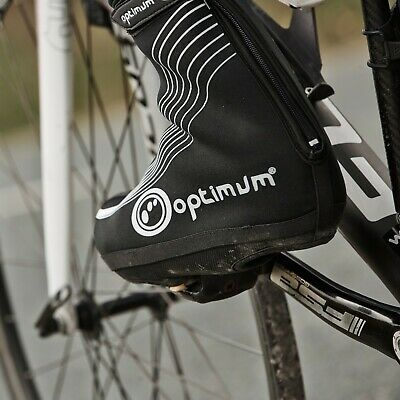Optimum Cycling Zippered Shoe Covers Overshoes Waterproof Windproof Outdoor Bike