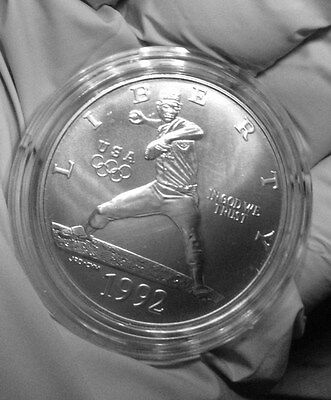 1992 (D) OLYMPIC - PITCHER-  SILVER DOLLAR, PROOF  BUY IT NOW $ 37 DLLs.