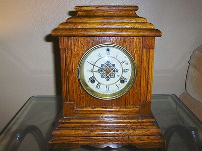 Antique Waterbury Mantel Clock 1Hour Chime & 1/2 Hour Bell Works Great