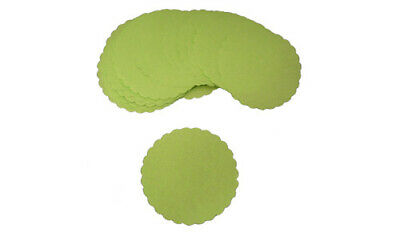 "Green Scalloped Wax Burger Discs - 4"" - (250 Pack / Spare)"