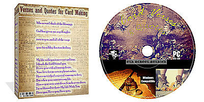 6000 Verses And Quotes CD Disk For Card Making Arts & Crafts + Decoupage + Extra