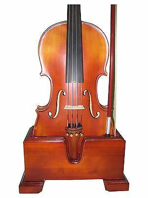 Violin and Bow Wooden Holder (Stand), Plush Velvet, Safe and Stronghold
