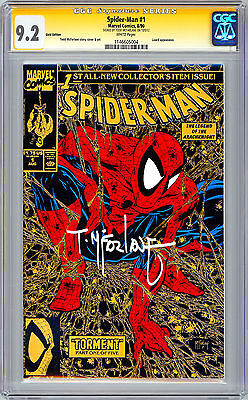 mm SPIDER-MAN #1 CGC-SS 9.2 *GOLD VARIANT SIGNED BY ARTIST TODD MCFARLANE*  1990