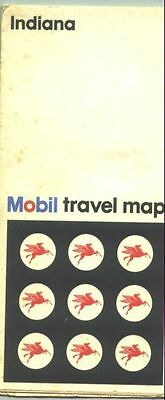 1972 Mobil Indiana Vintage Road Map