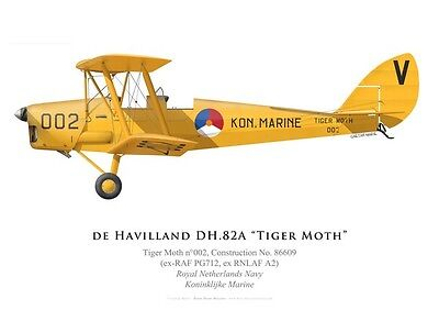 Print Tiger Moth, No 002, Royal Netherlands Navy (par G. Marie)