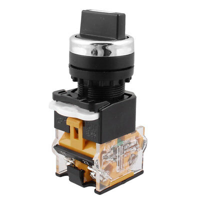 NO+NC 4 TERMINALS Rotary Selector Control Push Button Switch Ith 10A ...