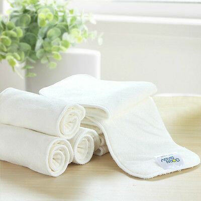4 layers High Quality Super Soft Bamboo Fiber Insert Liners For Cloth Diaper