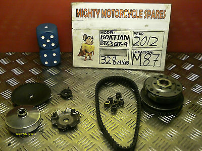 Baotian Bt125 Bt43Qt-4 Variator Kit Excludes Fan 2012 340 Miles M87