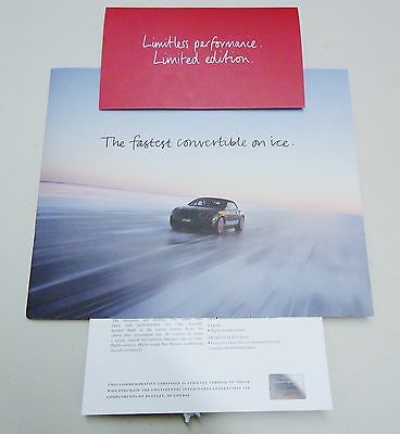 Bentley Limited Edition Continental Supersports Convertible Isr Dealer Brochure