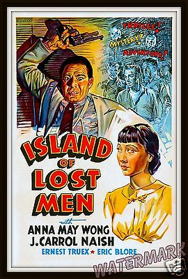 Wall Art - Movie Poster- 1939 Island of Lost Men  11x17
