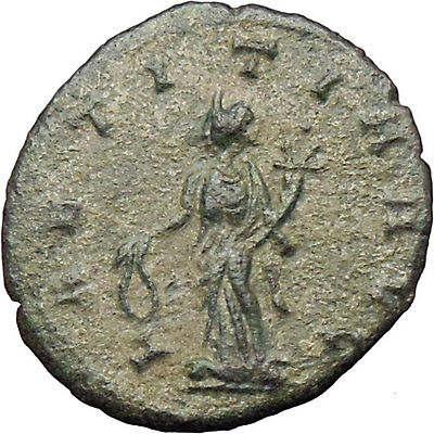 CLAUDIUS II Gothicus 268AD Ancient Roman Coin Laetitia Happy Wealth  i29786
